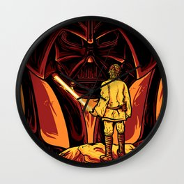 Darth Vader and Luke Skywalker Wall Clock
