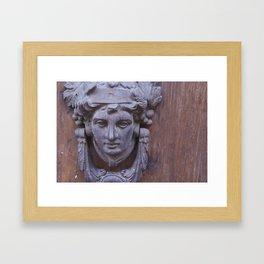 King of Door Knockers Framed Art Print