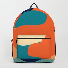 Retro 70's and 80's colorful fluid abstraction Backpack