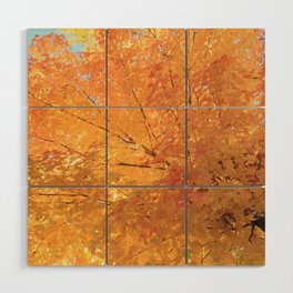 Autumn Explosion Wood Wall Art