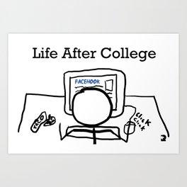 Post Grad Art Print