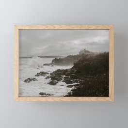 Waves Crashing Framed Mini Art Print