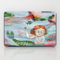 siren iPad Cases featuring SIREN by Lauraballa StudioArte