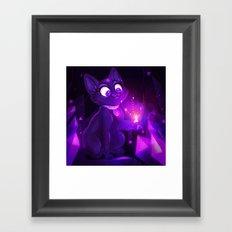 Amethyst Kitty Framed Art Print