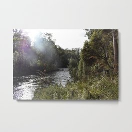 Flare on the River Metal Print
