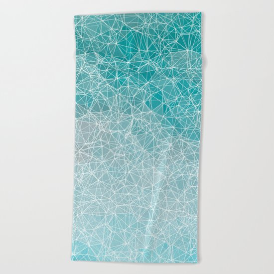 Polygonal A3 Beach Towel