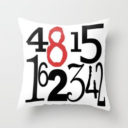 The Numbers in White Throw Pillow