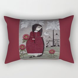 Winterbird, or Hope is a Thing With Feathers Rectangular Pillow
