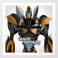transformers Art Prints featuring Transformers Prime by giftstore2u