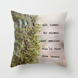 """Get Lower""  Throw Pillow"