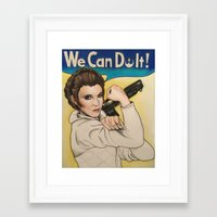 leia Framed Art Prints featuring Leia by seventhwonderwitch
