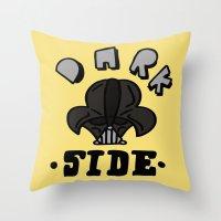dark side Throw Pillows featuring dark side by benjamin chaubard
