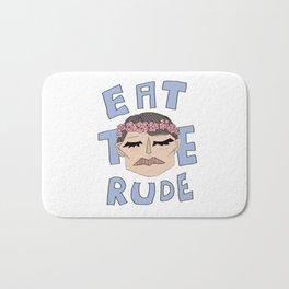 Eat The Rude Bath Mat