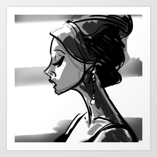 princess in profile Art Print