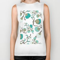 wallpaper Biker Tanks featuring Wallpaper floral by cactus studio