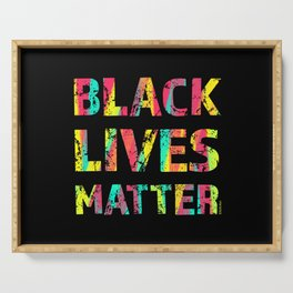 Black Lives Matter Colorful Painting 01 Serving Tray