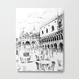 Sketch of San Marco Square in Venice Metal Print