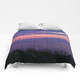 Purple Evening Clouds at Sea Comforters