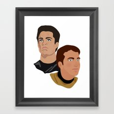 The Two Captains Framed Art Print