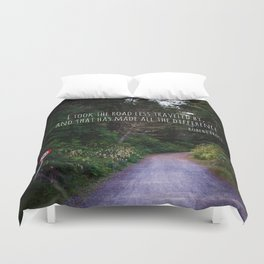 The Road Less Traveled Duvet Cover By Michellemcconnell Society6