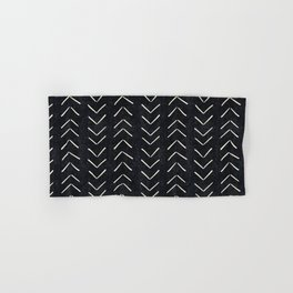 Mudcloth Big Arrows in Black and White Hand & Bath Towel