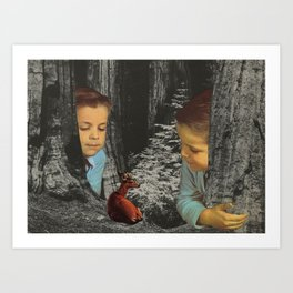 Unexpected Visitor Art Print