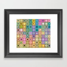 Geometric Color Framed Art Print