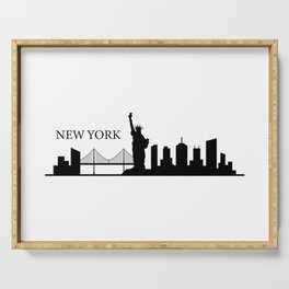 New york skyline Serving Tray