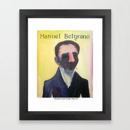 Manuel Belgrano por Diego Manuel Framed Art Print