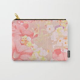 Carefree Pink Petunias Carry-All Pouch