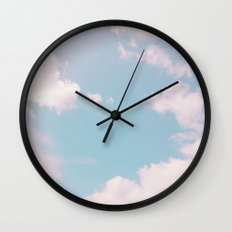 Every Cloud Has a Pink Lining Wall Clock