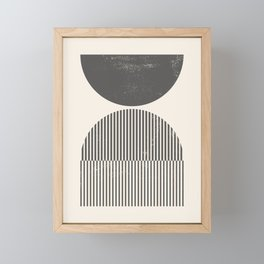 Mid Century Modern Print - Abstract Arch Print, Woodblock Style Rainbow Arch Prints Wall Art, Geomet Framed Mini Art Print