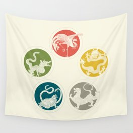 Five Heavenly Beasts Wall Tapestry