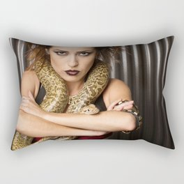 Snakes Angry Stare Rectangular Pillow