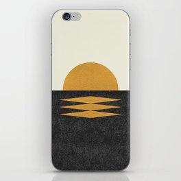 Sunset Geometric iPhone Skin