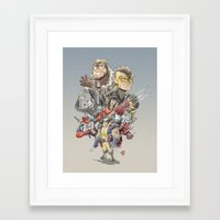 the mortal instruments Framed Art Prints featuring Mortal Enemies by Fernando Cano Zapata
