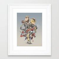 mortal instruments Framed Art Prints featuring Mortal Enemies by Fernando Cano Zapata