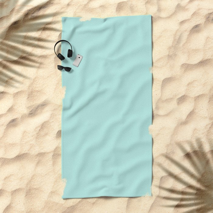 Simply aqua turquoise blue lightblue color - Mix and Match with Simplicity of Life Beach Towel