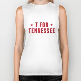 T FOR TENNESSEE Biker Tank