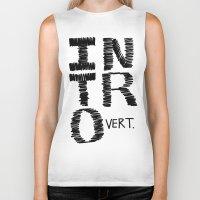 introvert Biker Tanks featuring Introvert by Lizzi Davis