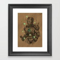 Wooden Man Framed Art Print