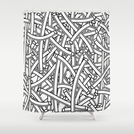 entwined stripes Shower Curtain
