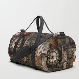 Steampunk, wonderful clockwork with gears Duffle Bag