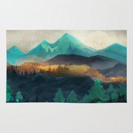 Green Wild Mountainside Rug