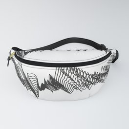 Pattern Collection. Black and White. Pulse. Fanny Pack