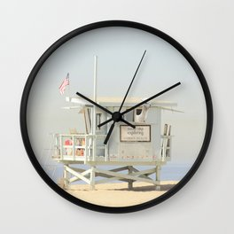 NEVER STOP EXPLORING VENICE BEACH No. 23 Wall Clock