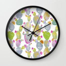 Blooming Spring Cacti Wall Clock