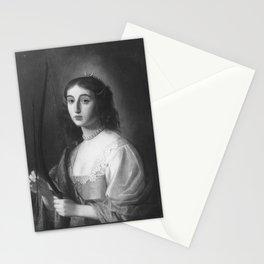 Gerard van Honthorst - Bildnis der Prinzessin Elisabeth von der Pfalz als Diana (1618-1680) Stationery Cards