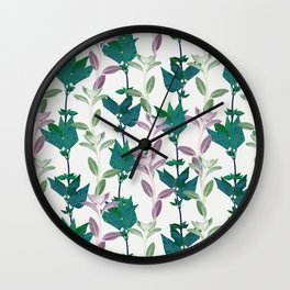 Garden jungle pattern Wall Clock