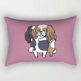 Cavalier King Charles Spaniel hugs Rectangular Pillow
